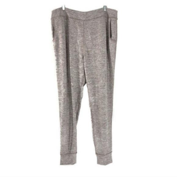 Logo By Lori Goldstein Space Dye Knit Pants With Pockets Maple Sugar Size Xxs Without Return Pants